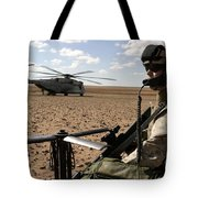 A Marine Assembles A Radio Antenna Tote Bag by Stocktrek Images