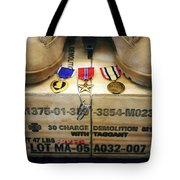 A Memorial Dedicated To An Airman Who Tote Bag by Stocktrek Images