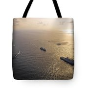 A Multi-national Naval Force Navigates Tote Bag by Stocktrek Images