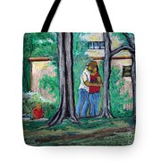 A Nice Day In Dominion Square  Tote Bag by Reb Frost