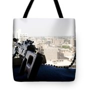A Pk 7.62mm Machine Gun Nest On Top Tote Bag by Terry Moore