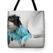 A Puppys Mistake Tote Bag by Mike Raabe