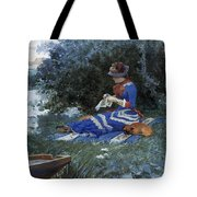 A Quiet Afternoon Tote Bag by William Henry Lippincott