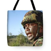 A Royal Brunei Land Force Soldier Tote Bag by Stocktrek Images