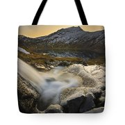 A Small Creek Running Tote Bag by Arild Heitmann
