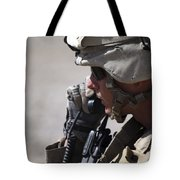 A Squad Leader Puts His Marines Tote Bag by Stocktrek Images
