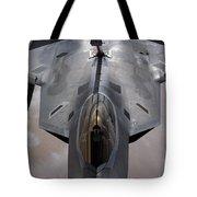 A U.s. Air Force F-22 Raptor Tote Bag by Stocktrek Images