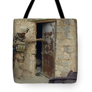 A U.s. Marine Searching Tote Bag by Stocktrek Images