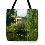 A View Of The Parthenon 15 Tote Bag by Douglas Barnett