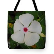 A White Star with a Red Center Tote Bag by Chad and Stacey Hall