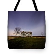 Abandoned Farmhouse At Night Tote Bag by Cale Best