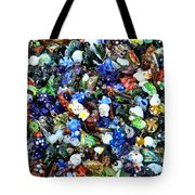 Abstract - colored glass characters Tote Bag by Paul Ward
