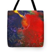 Abstract - Crayon - Andromeda Tote Bag by Mike Savad