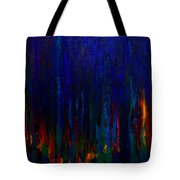 Abstract Evergreens Tote Bag by Claire Bull
