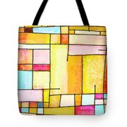 Abstract Town Tote Bag by Setsiri Silapasuwanchai