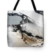 Aerial View Of Snow-covered Ruapehu Tote Bag by Richard Roscoe
