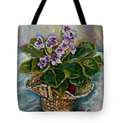 African Violets Tote Bag by Carole Spandau