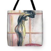 African Woman Tote Bag by Emmanuel Baliyanga