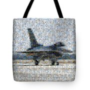 Airforce F-4866 Mosaic  Tote Bag by Darleen Stry