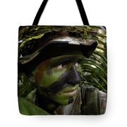 Airman Conceals Himself By Blending Tote Bag by Stocktrek Images