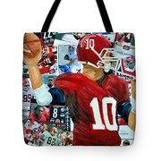 Alabama Quarter Back Passing Tote Bag by Michael Lee