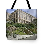 ALCATRAZ CELL HOUSE WEST FACADE Tote Bag by Daniel Hagerman