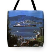 Alcatraz From San Fran Hilltop Tote Bag by Paul W Faust -  Impressions of Light