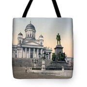 Alexander II Memorial At Senate Square In Helsinki Finland Tote Bag by International  Images