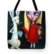 Alice A Tea Pot Tote Bag by LEANNE WILKES