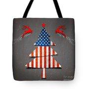 America X'mas Tree Tote Bag by Atiketta Sangasaeng