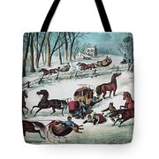 American Winter 1870 Tote Bag by Photo Researchers