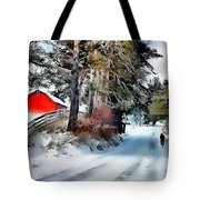Amish Boy On Bike Tote Bag by Tom Schmidt