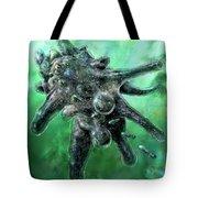 Amoeba Green Tote Bag by Russell Kightley