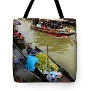 Ampawa Floating Market Tote Bag by Adrian Evans