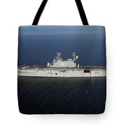 Amphibious Assault Ship Uss Peleliu Tote Bag by Stocktrek Images