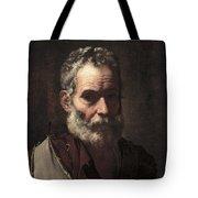 An Old Man Tote Bag by Jusepe de Ribera