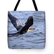 Anhinga In Flight Tote Bag by Roger Wedegis