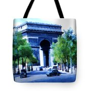 Arc de Triomphe 1954 Tote Bag by Chuck Staley