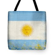 Argentina flag Tote Bag by Setsiri Silapasuwanchai