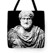 Aristotle, Ancient Greek Philosopher Tote Bag by Omikron