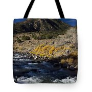 Arkansas River Autumn Tote Bag by Ellen Heaverlo