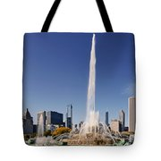 Art Deco Buckingham Fountain Chicago Tote Bag by Christine Till