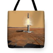 Artists Concept Of An Ascent Vehicle Tote Bag by Stocktrek Images