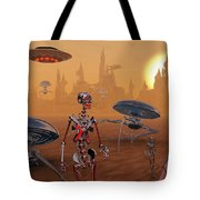 Artists Concept Of Life On Mars Long Tote Bag by Mark Stevenson