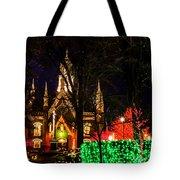 Assembly Hall Slc Christmas Tote Bag by La Rae  Roberts