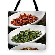 Assorted Herbal Wellness Dry Tea In Bowls Tote Bag by Elena Elisseeva