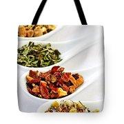 Assorted Herbal Wellness Dry Tea In Spoons Tote Bag by Elena Elisseeva