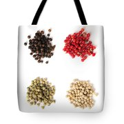 Assorted peppercorns Tote Bag by Elena Elisseeva