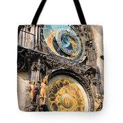 Astronomical Clock In Prague Tote Bag by Artur Bogacki