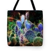 At Night The Desert Glows Tote Bag by Ellen Heaverlo